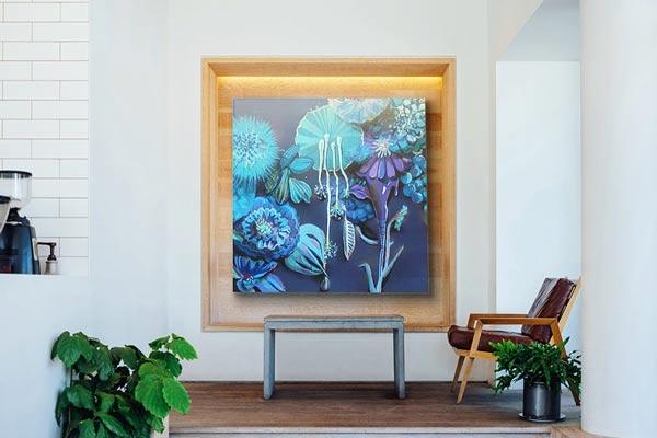 stimmungsvolles Blumenbild für das Foyer