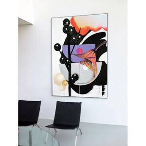 floral abstrakter Fineart Print im Konferenzraum
